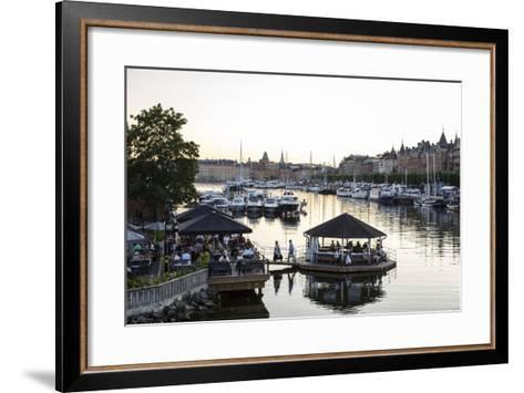 View over the Buildings and Boats Along Strandvagen Street, Stockholm, Sweden, Scandinavia, Europe-Yadid Levy-Framed Art Print