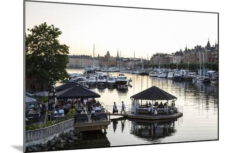 View over the Buildings and Boats Along Strandvagen Street, Stockholm, Sweden, Scandinavia, Europe-Yadid Levy-Mounted Photographic Print