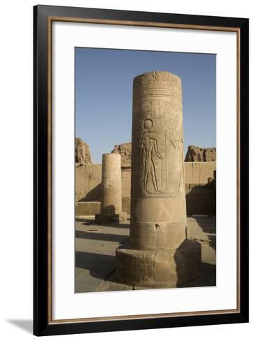 Pillars with Bas-Relief of the God Sobek-Richard Maschmeyer-Framed Art Print