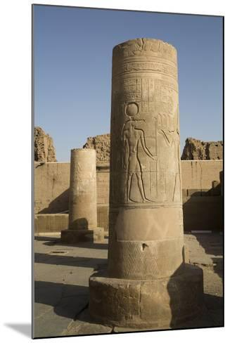 Pillars with Bas-Relief of the God Sobek-Richard Maschmeyer-Mounted Photographic Print