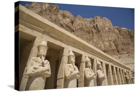Statues of Osiris, Deir-El-Bahri (Hatshepsut's Temple), West Bank-Richard Maschmeyer-Stretched Canvas Print
