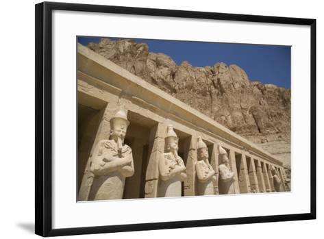 Statues of Osiris, Deir-El-Bahri (Hatshepsut's Temple), West Bank-Richard Maschmeyer-Framed Art Print