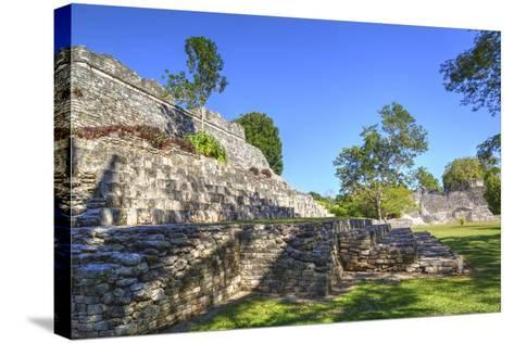 Temple of the King, Kohunlich, Mayan Archaeological Site, Quintana Roo, Mexico, North America-Richard Maschmeyer-Stretched Canvas Print