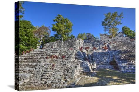 Nivel B, the Acropolis, Kinichna, Mayan Archaeological Site, Quintana Roo, Mexico, North America-Richard Maschmeyer-Stretched Canvas Print