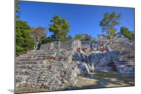 Nivel B, the Acropolis, Kinichna, Mayan Archaeological Site, Quintana Roo, Mexico, North America-Richard Maschmeyer-Mounted Photographic Print