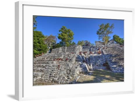Nivel B, the Acropolis, Kinichna, Mayan Archaeological Site, Quintana Roo, Mexico, North America-Richard Maschmeyer-Framed Art Print