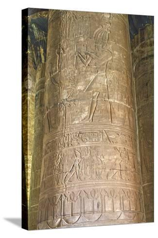 Columns in the Hypostyle Hall, Temple of Horus, Edfu, Egypt, North Africa, Africa-Richard Maschmeyer-Stretched Canvas Print