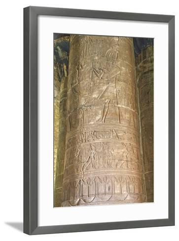 Columns in the Hypostyle Hall, Temple of Horus, Edfu, Egypt, North Africa, Africa-Richard Maschmeyer-Framed Art Print