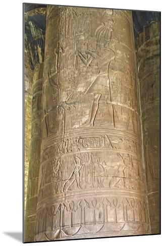 Columns in the Hypostyle Hall, Temple of Horus, Edfu, Egypt, North Africa, Africa-Richard Maschmeyer-Mounted Photographic Print