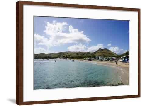 Lion Rock Beach, St. Kitts, St. Kitts and Nevis-Robert Harding-Framed Art Print