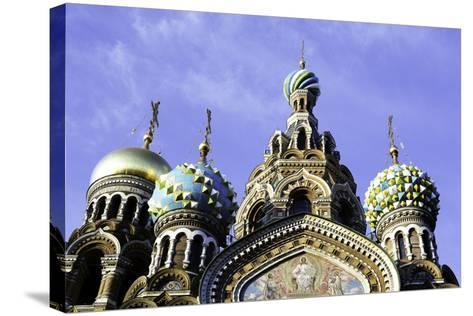 Domes of Church of the Saviour on Spilled Blood, UNESCO World Heritage Site, St. Petersburg, Russia-Gavin Hellier-Stretched Canvas Print