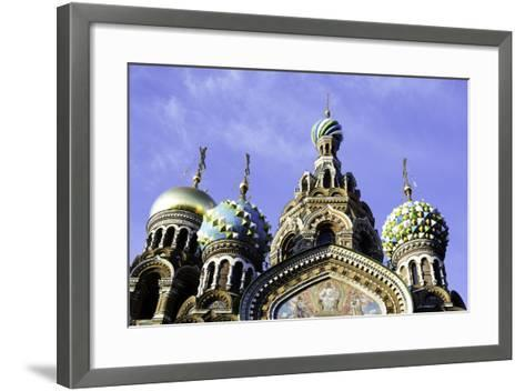 Domes of Church of the Saviour on Spilled Blood, UNESCO World Heritage Site, St. Petersburg, Russia-Gavin Hellier-Framed Art Print