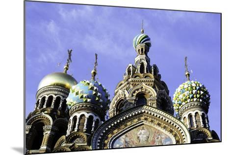 Domes of Church of the Saviour on Spilled Blood, UNESCO World Heritage Site, St. Petersburg, Russia-Gavin Hellier-Mounted Photographic Print