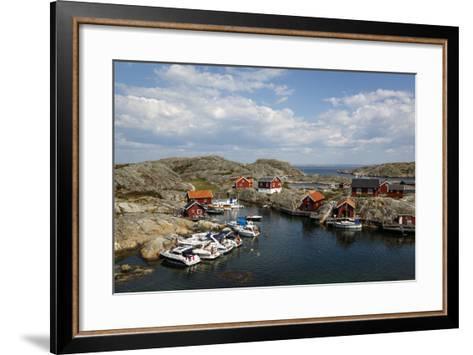 Timber Houses, Vaderoarna (The Weather Islands) Archipelago, Bohuslan Region, West Coast, Sweden-Yadid Levy-Framed Art Print
