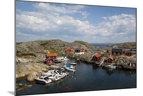 Timber Houses, Vaderoarna (The Weather Islands) Archipelago, Bohuslan Region, West Coast, Sweden-Yadid Levy-Mounted Photographic Print
