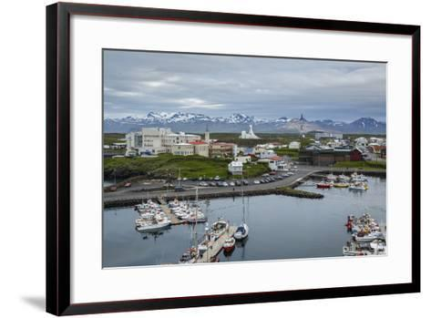 View over the Fishing Port and Houses at Stykkisholmur, Snaefellsnes Peninsula, Iceland-Yadid Levy-Framed Art Print