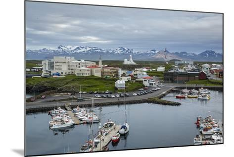View over the Fishing Port and Houses at Stykkisholmur, Snaefellsnes Peninsula, Iceland-Yadid Levy-Mounted Photographic Print