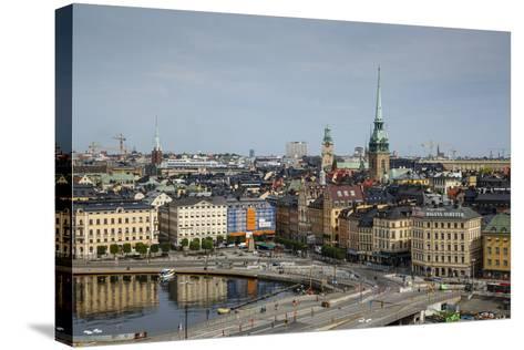 Skyline of Stockholm, Sweden, Scandinavia, Europe-Yadid Levy-Stretched Canvas Print