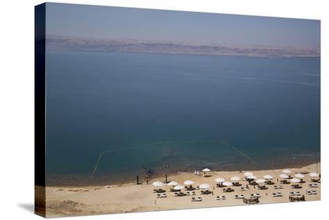 Beach Swimming Area, Crown Plaza Dead Sea Hotel, Dead Sea, Jordan, Middle East-Richard Maschmeyer-Stretched Canvas Print