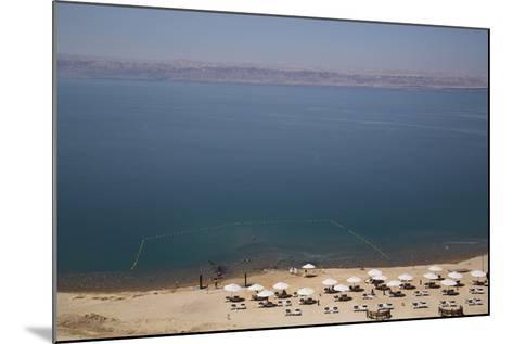 Beach Swimming Area, Crown Plaza Dead Sea Hotel, Dead Sea, Jordan, Middle East-Richard Maschmeyer-Mounted Photographic Print