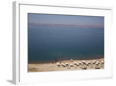 Beach Swimming Area, Crown Plaza Dead Sea Hotel, Dead Sea, Jordan, Middle East-Richard Maschmeyer-Framed Art Print