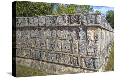 Platform of Skulls, Chichen Itza, Yucatan, Mexico, North America-Richard Maschmeyer-Stretched Canvas Print