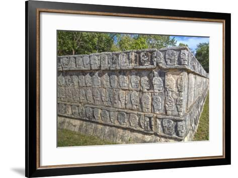 Platform of Skulls, Chichen Itza, Yucatan, Mexico, North America-Richard Maschmeyer-Framed Art Print