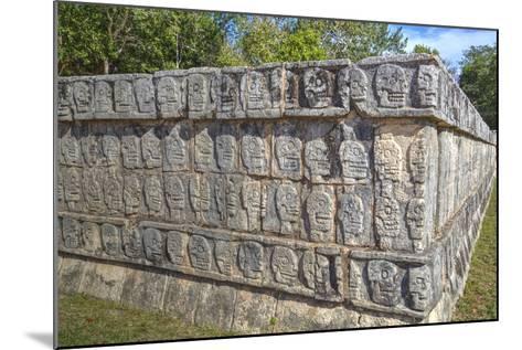 Platform of Skulls, Chichen Itza, Yucatan, Mexico, North America-Richard Maschmeyer-Mounted Photographic Print