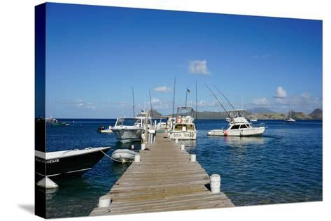 Dock at Oualie Beach, Nevis, St. Kitts and Nevis-Robert Harding-Stretched Canvas Print