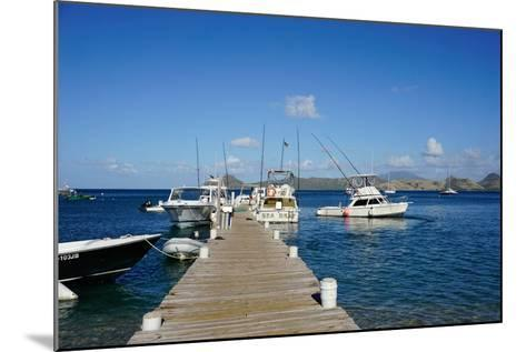 Dock at Oualie Beach, Nevis, St. Kitts and Nevis-Robert Harding-Mounted Photographic Print