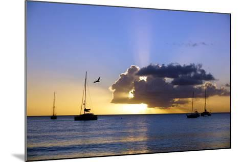 Sunset, St. Kitts and Nevis, Leeward Islands, West Indies, Caribbean, Central America-Robert Harding-Mounted Photographic Print