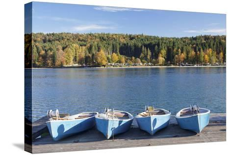 Boat Hire, Walchensee Village, Walchensee Lake, Bavarian Alps, Upper Bavaria, Bavaria, Germany-Markus Lange-Stretched Canvas Print