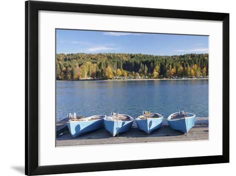 Boat Hire, Walchensee Village, Walchensee Lake, Bavarian Alps, Upper Bavaria, Bavaria, Germany-Markus Lange-Framed Art Print