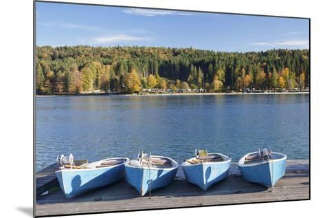 Boat Hire, Walchensee Village, Walchensee Lake, Bavarian Alps, Upper Bavaria, Bavaria, Germany-Markus Lange-Mounted Photographic Print
