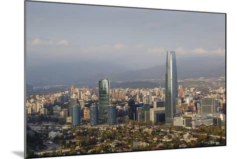View over the Gran Torre Santiago from Cerro San Cristobal, Santiago, Chile, South America-Yadid Levy-Mounted Photographic Print