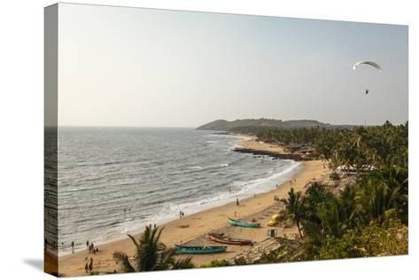 View over South Anjuna Beach, Goa, India, Asia-Yadid Levy-Stretched Canvas Print
