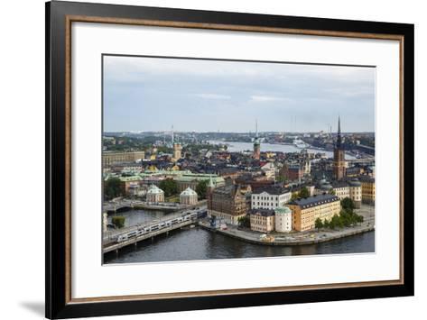 Skyline View over Gamla Stan, Riddarholmen and Riddarfjarden, Stockholm, Sweden-Yadid Levy-Framed Art Print