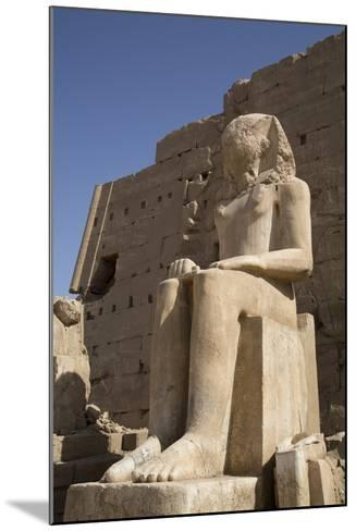Seated Colossus in Front of 8th Pylon, Karnak Temple, Luxor, Thebes, Egypt, North Africa, Africa-Richard Maschmeyer-Mounted Photographic Print