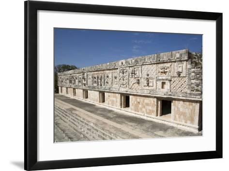 Nuns Quadrangle, Uxmal, Mayan Archaeological Site, Yucatan, Mexico, North America-Richard Maschmeyer-Framed Art Print