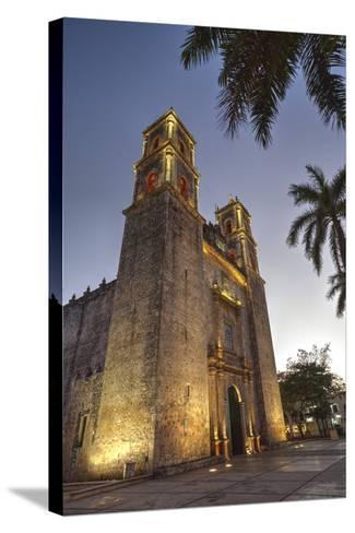 Cathedral De San Gervasio, Completed in 1570, Valladolid, Yucatan, Mexico, North America-Richard Maschmeyer-Stretched Canvas Print