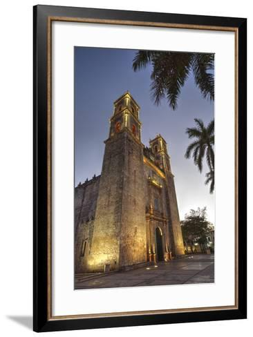 Cathedral De San Gervasio, Completed in 1570, Valladolid, Yucatan, Mexico, North America-Richard Maschmeyer-Framed Art Print