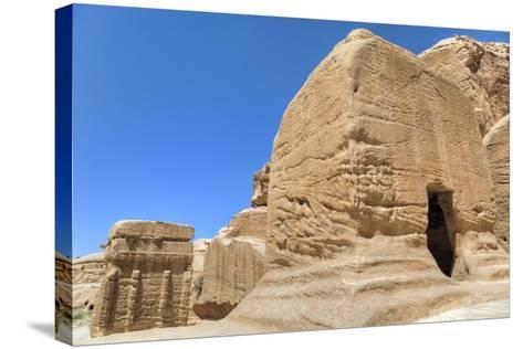 Djinn Blocks, Dating from Between 50 BC and 50 Ad, Petra, Jordan, Middle East-Richard Maschmeyer-Stretched Canvas Print