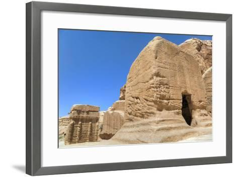 Djinn Blocks, Dating from Between 50 BC and 50 Ad, Petra, Jordan, Middle East-Richard Maschmeyer-Framed Art Print