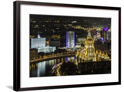 Elevated View over the Moskva River Embankment-Gavin Hellier-Framed Art Print