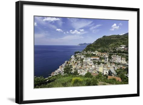 Clifftop Village of Riomaggiore, Cinque Terre, UNESCO World Heritage Site, Liguria, Italy, Europe-Gavin Hellier-Framed Art Print