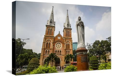 Notre Dame Cathedral, Ho Chi Minh City (Saigon), Vietnam, Indochina, Southeast Asia, Asia-Yadid Levy-Stretched Canvas Print
