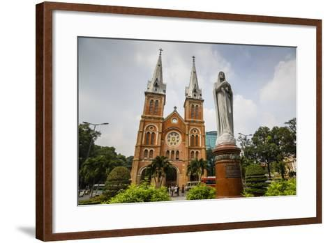 Notre Dame Cathedral, Ho Chi Minh City (Saigon), Vietnam, Indochina, Southeast Asia, Asia-Yadid Levy-Framed Art Print