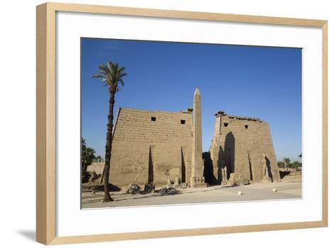 Obelisk, 25 Meters High in Front of Plyon 65 Meters Wide, Luxor Temple-Richard Maschmeyer-Framed Art Print