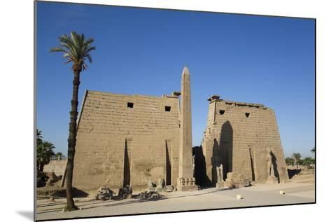 Obelisk, 25 Meters High in Front of Plyon 65 Meters Wide, Luxor Temple-Richard Maschmeyer-Mounted Photographic Print