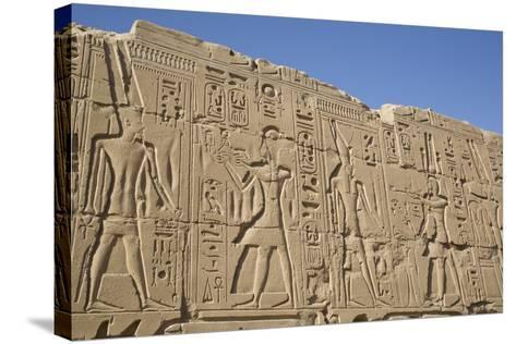 Bas-Relief of Pharaohs and Gods, Karnak Temple, Luxor, Thebes, Egypt, North Africa, Africa-Richard Maschmeyer-Stretched Canvas Print